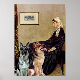 German Shepherds  -  Whistlers Mother Print