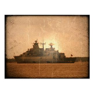 German Ship Postcard