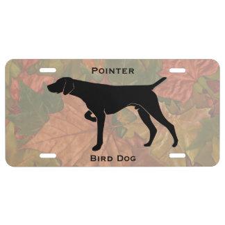 German Short Hair Dog Silhouette Customizable License Plate