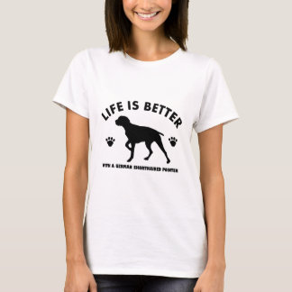 german short haired point dog design T-Shirt