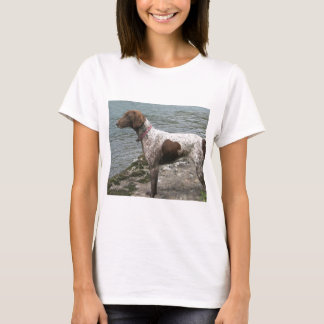 German Short Haired Pointer by a Stream T-Shirt