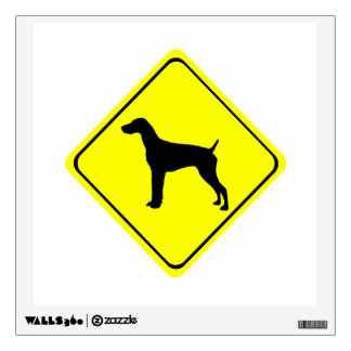 German short-Haired Pointer Dog Crossing Sign Room Decal