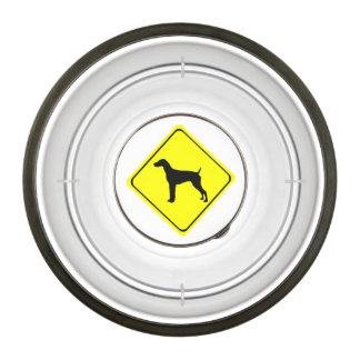 German short-Haired Pointer Dog Crossing Sign Pet Bowl