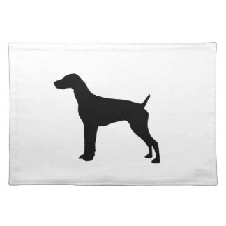 German Short-haired Pointer dog Silhouette Place Mat