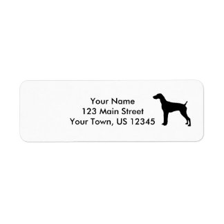 German Short-haired Pointer dog Silhouette Return Address Label