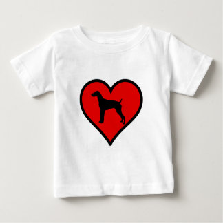 German Short-Haired Pointer Heart Love Dogs Baby T-Shirt