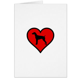 German Short-Haired Pointer Heart Love Dogs Card