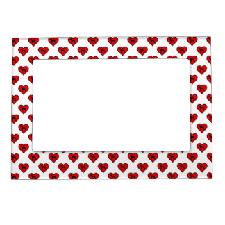 German Short-Haired Pointer Heart Love Dogs Magnetic Photo Frame