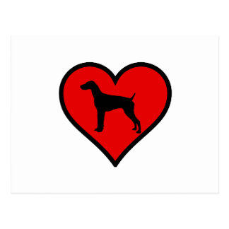 German Short-Haired Pointer Heart Love Dogs Postcard