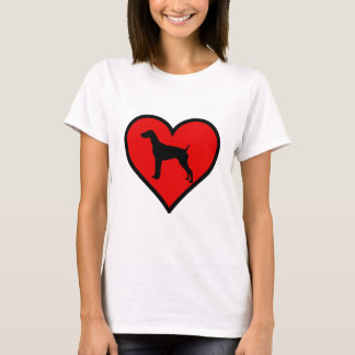German Short-Haired Pointer Heart Love Dogs T-Shirt