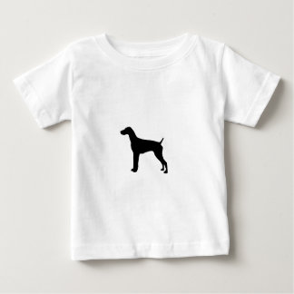 German Short-Haired Pointer Silhouette Love Dogs Baby T-Shirt