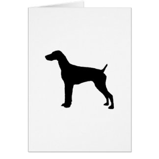 German Short-Haired Pointer Silhouette Love Dogs Card