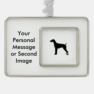 German Short-Haired Pointer Silhouette Love Dogs Christmas Ornament