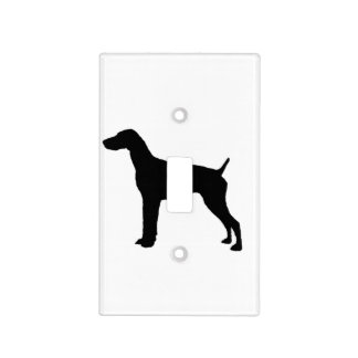 German Short-Haired Pointer Silhouette Love Dogs Light Switch Cover