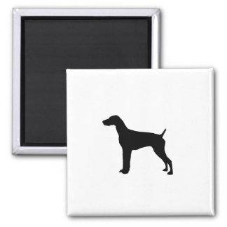 German Short-Haired Pointer Silhouette Love Dogs Magnet
