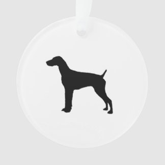 German Short-Haired Pointer Silhouette Love Dogs Ornament