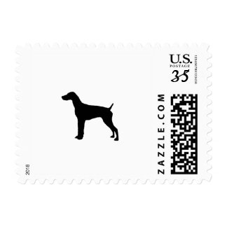 German Short-Haired Pointer Silhouette Love Dogs Postage
