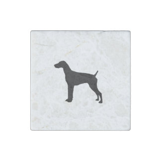 German Short-Haired Pointer Silhouette Love Dogs Stone Magnet