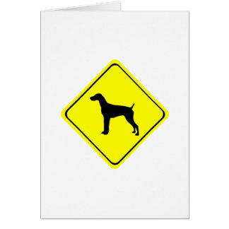 German Short-Haired Pointer Warning Sign Love Dogs Card