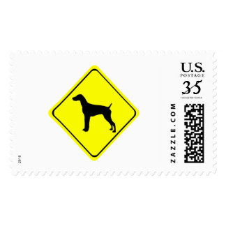 German Short-Haired Pointer Warning Sign Love Dogs Postage