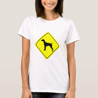 German Short-Haired Pointer Warning Sign Love Dogs T-Shirt