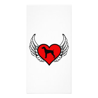 German Short-Haired Pointer Winged Heart Love Dogs Card