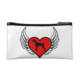 German Short-Haired Pointer Winged Heart Love Dogs Makeup Bag