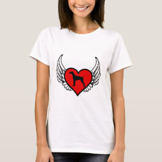 German Short-Haired Pointer Winged Heart Love Dogs T-Shirt