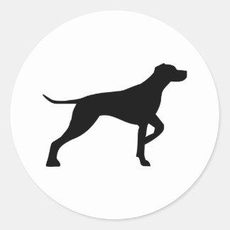 German shorthair hound classic round sticker