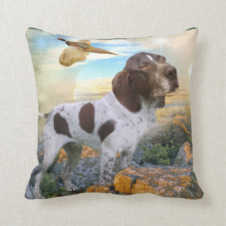 German Shorthair My Dog Hunts Throw Pillow