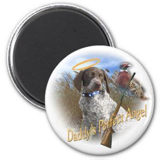 German Shorthair Perfect Angel 2 Inch Round Magnet