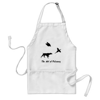 German Shorthair Pointer and Falconry Apron