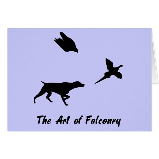 German Shorthair Pointer and Falconry Card