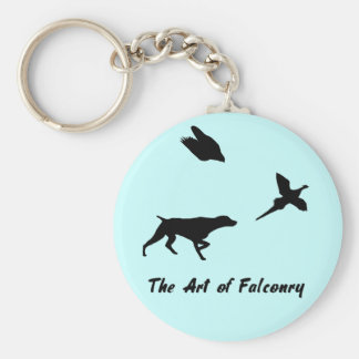 German Shorthair Pointer and Falconry Keychain