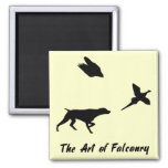 German Shorthair Pointer and Falconry Magnet Fridge Magnets