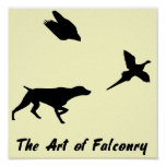 German Shorthair Pointer and Falconry Poster