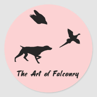 German Shorthair Pointer and Falconry Sticker