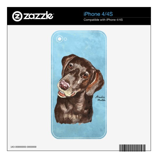 German Shorthair Pointer Decals For The iPhone 4S