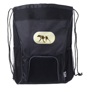German Shorthair Pointer Drawstring Backpack! Drawstring Backpack