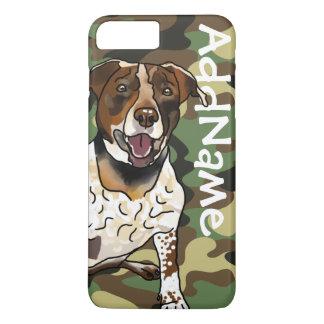German Shorthair Pointer Mix + Pet Name + Camo iPhone 8 Plus/7 Plus Case