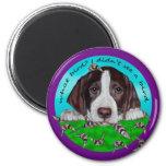 German Shorthair Pointer Puppy 2 Inch Round Magnet