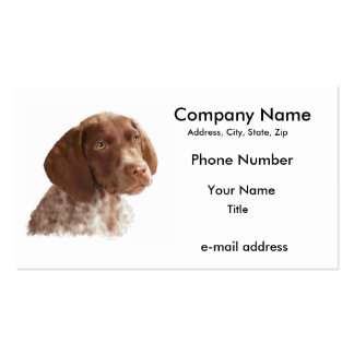 German Shorthair Pointer Puppy Double-Sided Standard Business Cards (Pack Of 100)