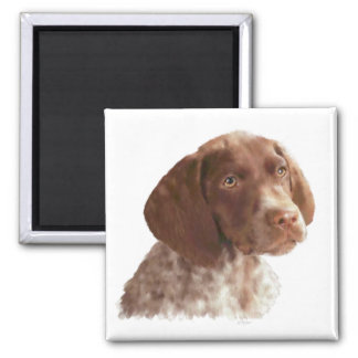 German Shorthair Puppy 2 Inch Square Magnet
