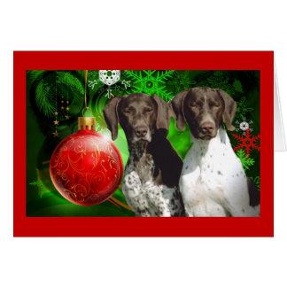 German Shorthaired Christmas Card