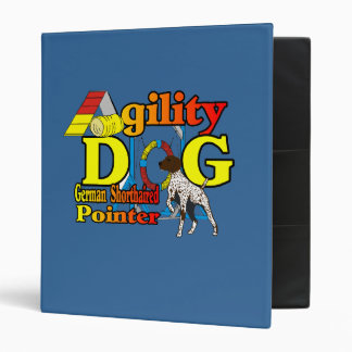 German Shorthaired Pointer Agility 3 Ring Binder