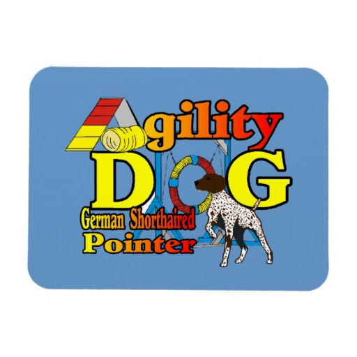 German Shorthaired Pointer Agility Magnet