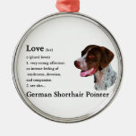 German Shorthaired Pointer Art Love Is Christmas Ornaments