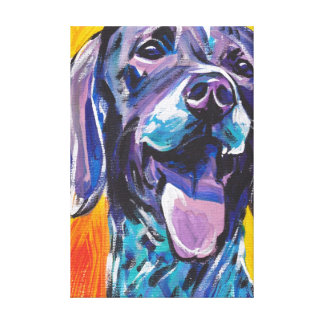 German Shorthaired Pointer Art on Stretched Canvas