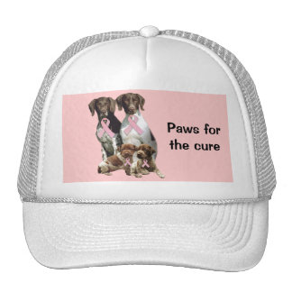 German Shorthaired Pointer Breast Cancer Hat