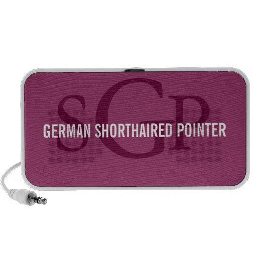 German Shorthaired Pointer Breed Monogram Design Mp3 Speaker